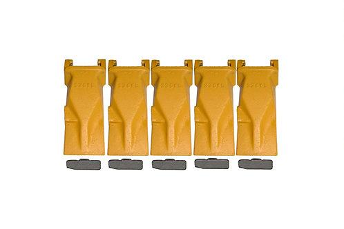 Bucket Tooth - Super-V Vertilok - ESCO Style - With Flex Pins - V33SYL - 5 Pack