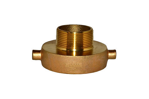 """Fire Hydrant Adapter - 2-1/2"""" Female NST/NH x 1-1/2"""" Male NPT - Brass"""