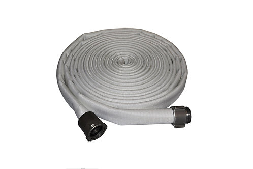 """Fire Hose - Double Jacket - 1-1/2"""" x 50 FT - Lay Flat - Aluminum NST Ends"""