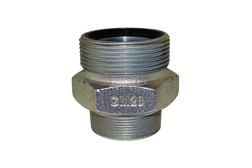 """Male Spud - Ground Joint - 2"""" - Plated Iron - Boss - GM28"""