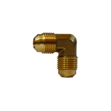 "SAE 45° Flare Fitting - Forged 90° Flare Elbow - 5/8"" - Brass"