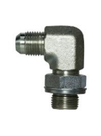 "Hydraulic Adapter - 90° Male Elbow - 1/2"" Tube Male JIC x 3/4"" Male BSPP Elbow"