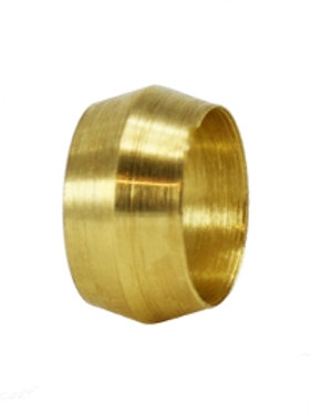 "Compression Fitting - Sleeve Ferrule - 1/4"" - Brass"
