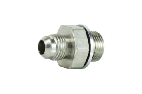 """Hydraulic Adapter - Male Connector - 1/4"""" Tube Male x 1/4"""" BSPP Male"""