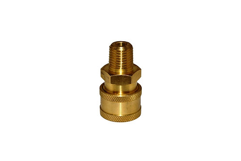 """Pressure Washer - Quick Connect Socket - 1/4"""" Male NPT - Brass"""
