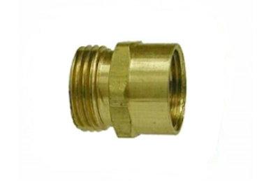 "Garden Hose Fitting - Rigid - 3/4"" Male GHT x 3/4"" Female Pipe - Brass"