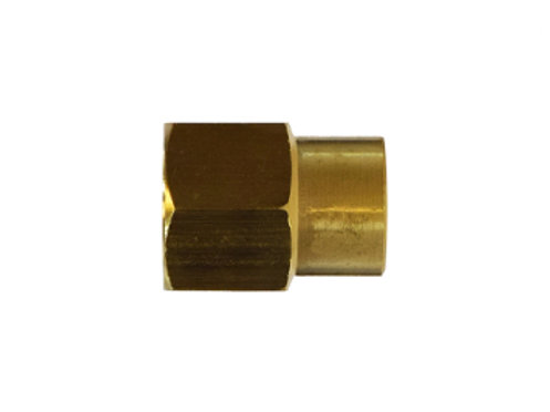 "Pipe Fitting - Reducing Coupling - 3/8"" Female Pipe x 1/4"" Female Pipe - Brass"