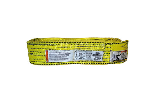 "Lifting Web Sling - 3"" x 16 FT - Two Ply - Flat Eye - Type 3 - Polyester"
