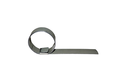 """Punch Type Clamp - 1-1/2"""" Clamp ID x 5/8"""" Band Width - Galvanized Steel - P06"""