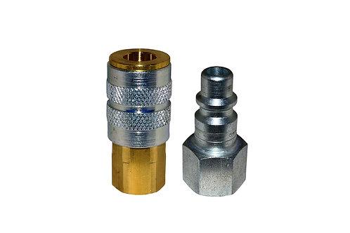 "Industrial Interchange - 1/4"" Coupler - 1/4"" Plug - 3/8"" Female Pipe Threads"