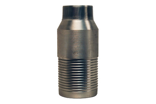 """Jump Size King Combination Nipple - 2"""" Hose Shank x 1-1/2"""" MPT - Stainless Steel"""