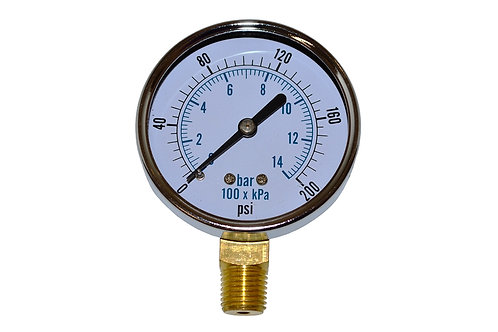 """Utility Dry Gauge - 2-1/2"""" - 0 to 200 PSI - LM 1/4"""" NPT"""