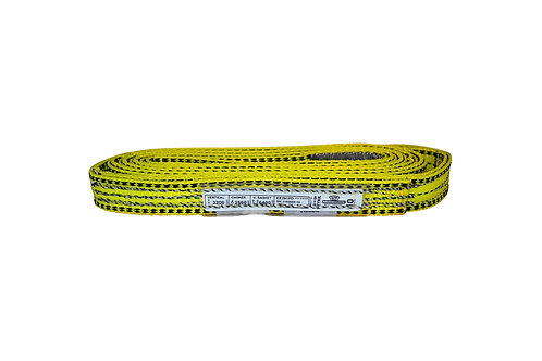 "Lifting Web Sling - 1"" x 10 FT - Two Ply - Flat Eye - Type 3 - Polyester"
