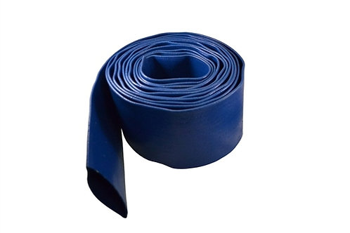 """Water Discharge Hose - 1-1/2"""" x 50 FT - Without Fittings - Blue"""