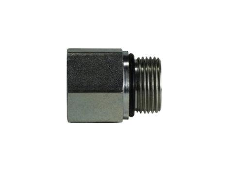 "Hydraulic Adapter - Female Adapter - 3/8"" Female Pipe x 3/8- 19 Male BSPP"
