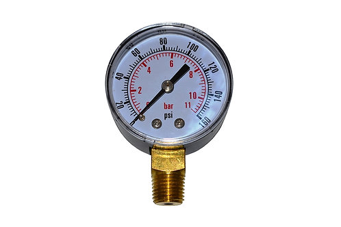 """Utility Dry Gauge - 2"""" - 0 to 160 PSI - LM 1/4"""" NPT"""