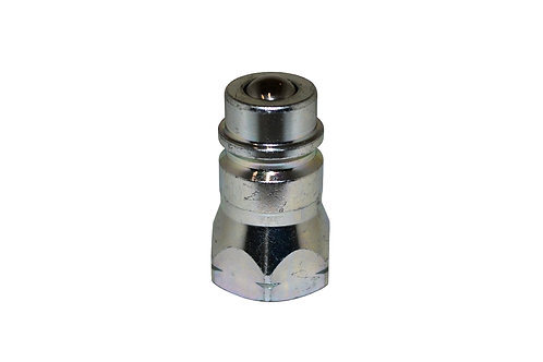 """Hydraulic Quick Coupler - 1/2"""" Agricultural - 7/8""""-14 (#10) ORB - Male Nipple"""
