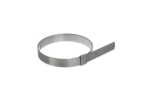 "Preformed Clamp - Smooth ID - 3"" (76mm) - 3/4"" Wide - 201 SS - BAND-IT Junior"