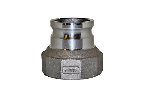 """Jumpsize Camlock - 3"""" Male Camlock X 4"""" Female Pipe - Aluminum - 3040A"""