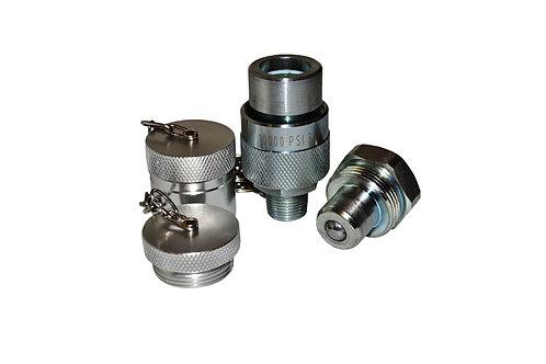 "Hydraulic Quick Coupler - Enerpac Interchange - 3/8"" With Cap & Plug C 604 Style"