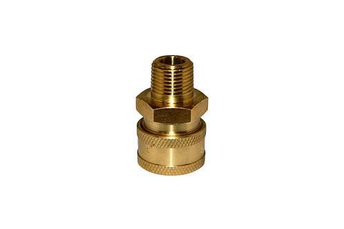 "Pressure Washer - Quick Connect Socket - 3/8"" Male NPT - Brass"