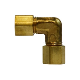 "Compression Fitting - 90° Union Elbow - 5/16"" - Brass"