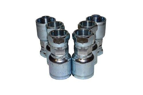 "Hydraulic Crimp Fitting - 3/4"" Female JIC x 3/4"" Hose Barb - C202 - 6 Pack"