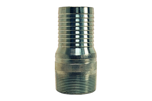 "King Nipple - Combination - 2-1/2"" - NPT Threaded - Steel Plated"