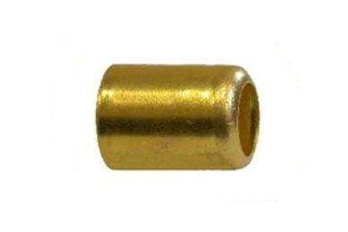 "Hose Ferrule - 0.500"" I.D. - Smooth Brass - 25 Pack"