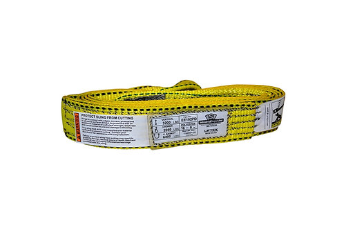 """Lifting Web Sling - 2"""" x 16 FT - One Ply - Flat Eye - Type 3 - Polyester"""