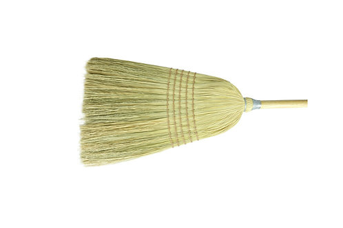 "Janitorial Upright Broom - 57"" Length - Corn and Fiber Fill - 70308"