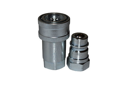 """Hydraulic Quick Coupler - Agricultural - 1/2"""" NPT - Complete Set -  ISO 5675"""