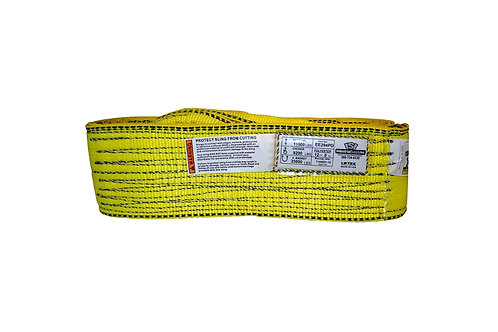"""Lifting Web Sling - 4"""" x 12 FT - Two Ply - Flat Eye - Type 3 - Polyester"""