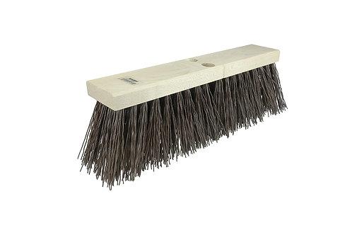 "Street Broom - 16"" Block - 5-1/4"" Trim Length - Brown Polypropylene Fill - 42033"