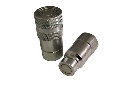 """Hydraulic Quick Coupler - ISO 16028 Flat Face - 1/2"""" NPT High Pressure - Stucchi"""