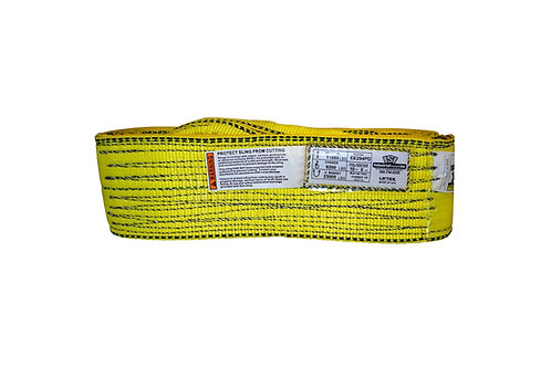 """Lifting Web Sling - 4"""" x 10 FT - Two Ply - Flat Eye - Type 3 - Polyester"""