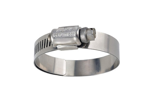 """Hose Clamp - Lined Clamp - 3/4"""" to 1-1/2"""" - Worm Gear - 6516E"""