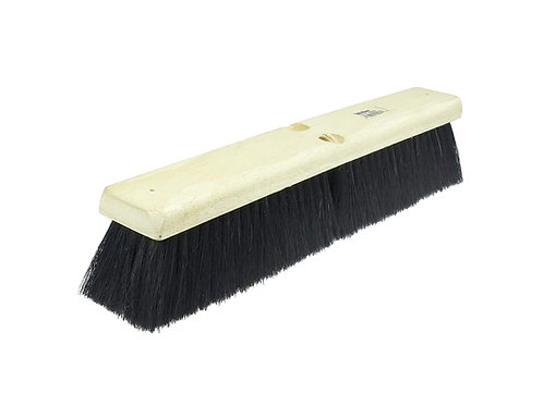 "Floor Brush - Medium Sweep - 18"" Block - Black Tampico Fill - 42007"