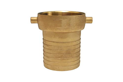 "Pin Lug Coupling - King Short Shank - Female - 1-1/4"" NPSM Threads - Brass"