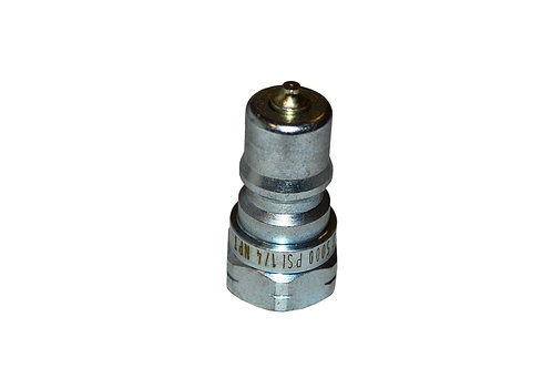 "Hydraulic Quick Coupler - ISO 7241-1 B - 1/4"" NPT - Male Nipple - IRB Series"
