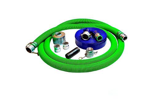 "EPDM Rubber Suction Hose - 1-1/2"" x 20' - Fits Honda - 50' Blue Discharge"