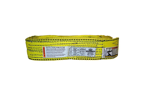"""Lifting Web Sling - 3"""" x 8 FT - Two Ply - Flat Eye - Type 3 - Polyester"""