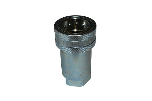 """Hydraulic Quick Coupler - ISO 7241-1 A - 1"""" NPT Pipe Threads - Female Coupler -"""