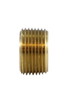"""Pipe Fitting - Face Bushing - 1/2"""" Male Pipe x 3/8"""" Female Pipe - Brass"""