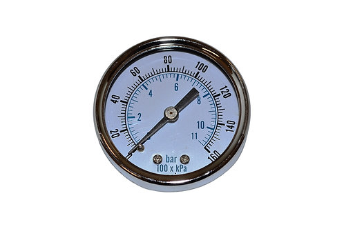 "Utility Dry Gauge - 2"" - 0 to 160 PSI - 1/4"" CBM"