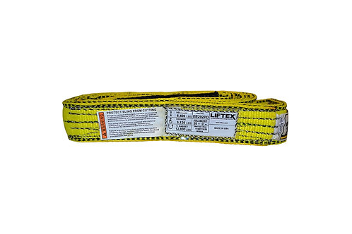 """Lifting Web Sling - 2"""" x 20 FT - Two Ply - Flat Eye - Type 3 - Polyester"""