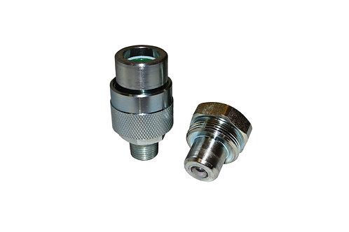 "Hydraulic Quick Coupler - Enerpac Interchange - 1/4"" Complete Set - C 604 Style"