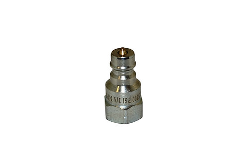 """Hydraulic Quick Coupler - ISO 7241-1 A - 1/4"""" NPT - Male Nipple - 6600 Series"""