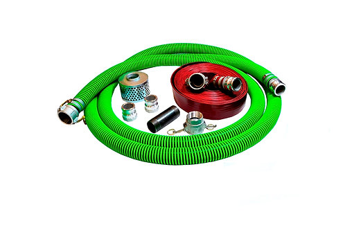 """EPDM Rubber Suction Hose - 2"""" x 20' - Fits Honda - 50' Red Discharge"""