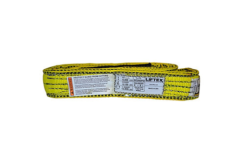 "Lifting Web Sling - 2"" x 8 FT - Two Ply - Flat Eye - Type 3 - Polyester"